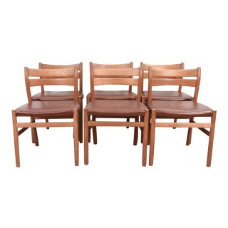 Borge Mogensen for C.M. Madsen Danish Dining Chairs - Set of 6