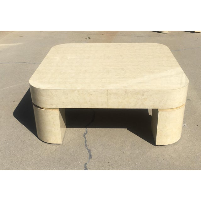 Metal Karl Springer Style Mid-Century Modern Ello Goatskin Coffee Table For Sale - Image 7 of 7