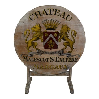 19th-C Painted French Wine Tasting Table For Sale