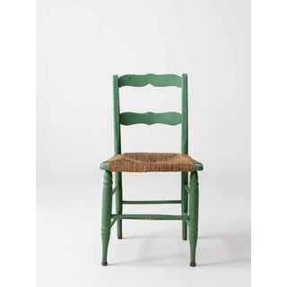 Vintage Rush Seat Green Chair Preview
