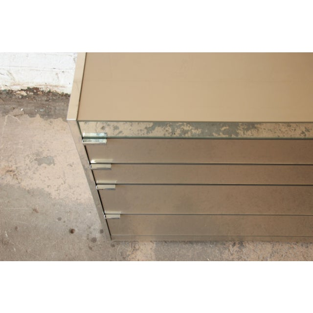 Guy Barker for Ello Mid-Century Mirrored Chest of Drawers - Image 8 of 9