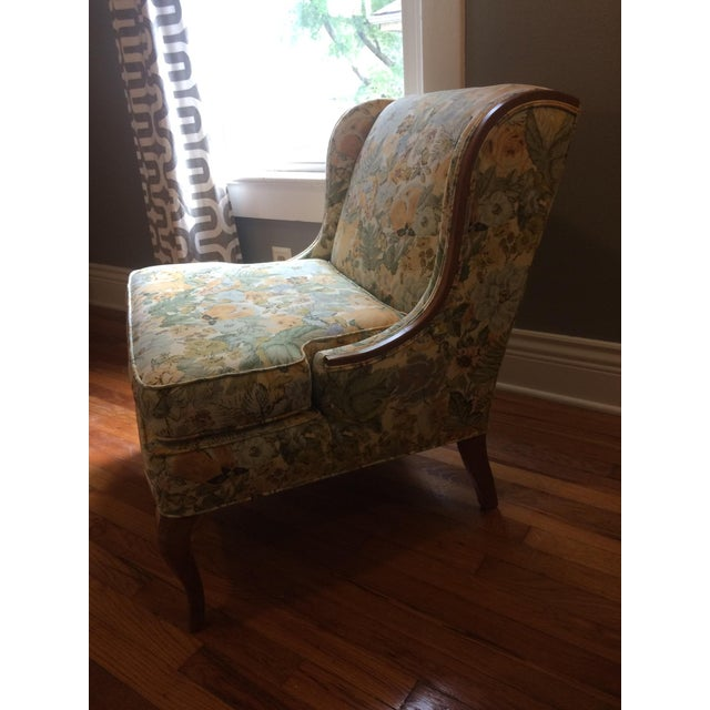 Vintage Winged Slipper Chair - Image 3 of 5