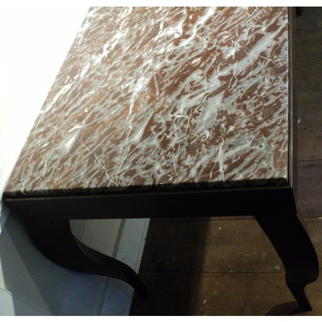 Custom Designed Metal & Marble Console Hall Table - Image 8 of 11