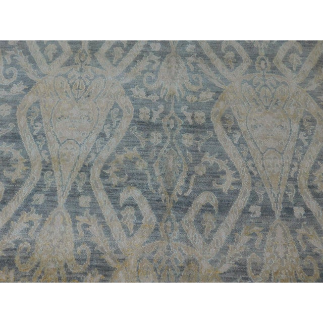 Hand Knotted Indian Ikat Rug - 9′ × 12′ For Sale - Image 12 of 12