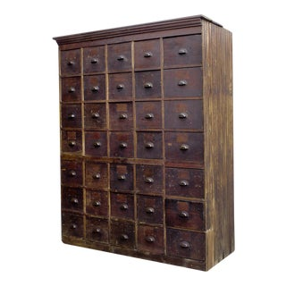 1890s Large Antique Multi-Drawer Storage Cabinet For Sale