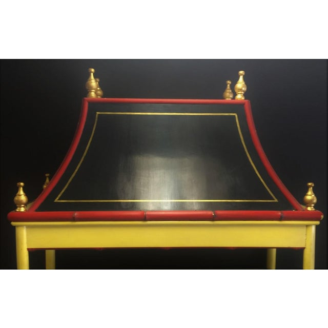 Chinoiserie Palm Beach Chinoiserie Pagoda Display Cabinet For Sale - Image 3 of 8