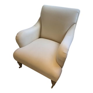 White Traditional Club Chair For Sale
