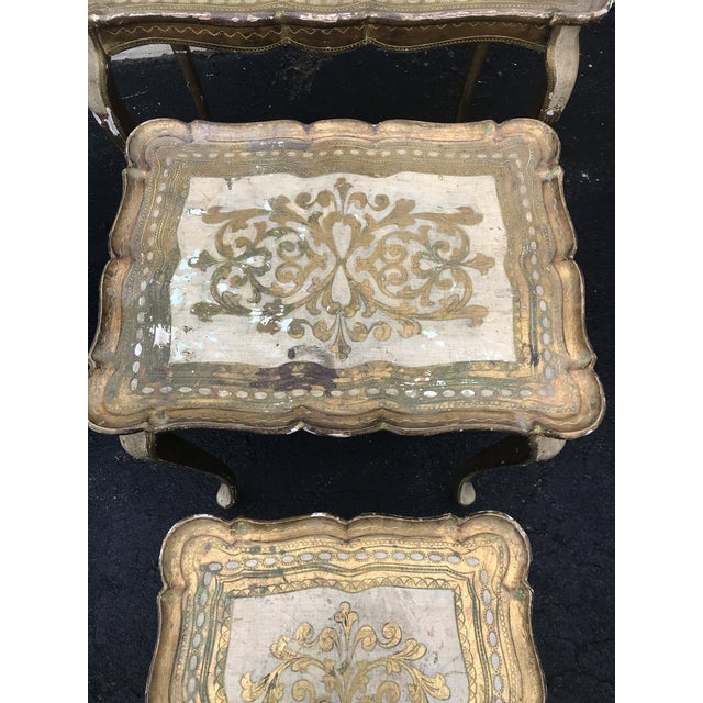 Gold Guilded Nesting Tables - Made in Italy - Image 8 of 10
