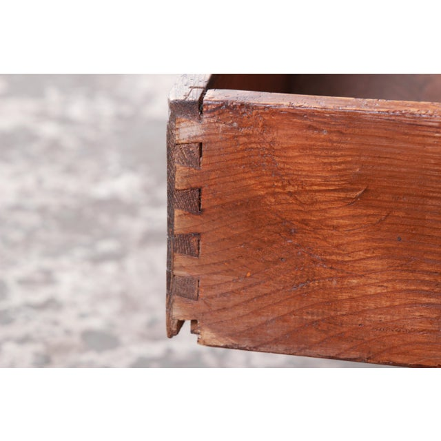 19th Century Country French Primitive Pine Double-Sided Map File Cabinet or Coffee Table For Sale - Image 9 of 13