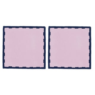 Hanover Placemats, Lilac and Navy - Set of 2 For Sale