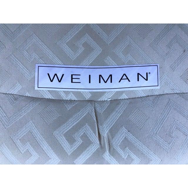 Late 20th Century Vintage Mid-Century Modern Vladimir Kagan for Weiman Geometric Greek Key Ivory Sofa For Sale - Image 5 of 12