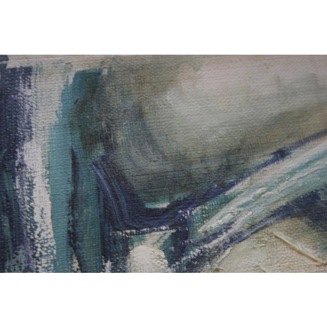 1960s Vintage Abstract Oil on Canvas Painting - Image 6 of 7