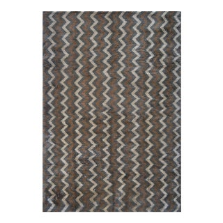 Contemporary Handwoven Deep Pile Mohair Moroccan Inspired Rug For Sale
