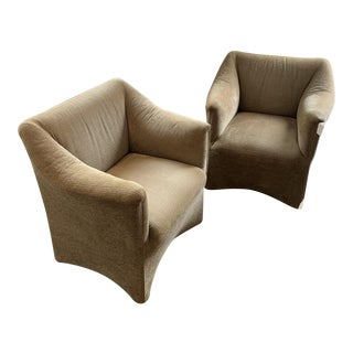 Pair of Tentazione Lounge Chairs by Bellini for Cassina For Sale