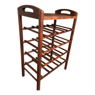 Ernest Sohn Teak Wine Rack For Sale