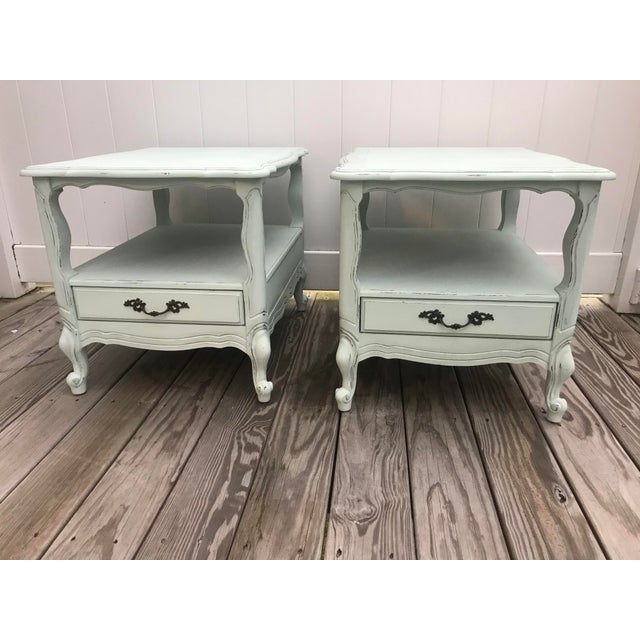 Green 1960s French End Tables - a Pair For Sale - Image 8 of 8