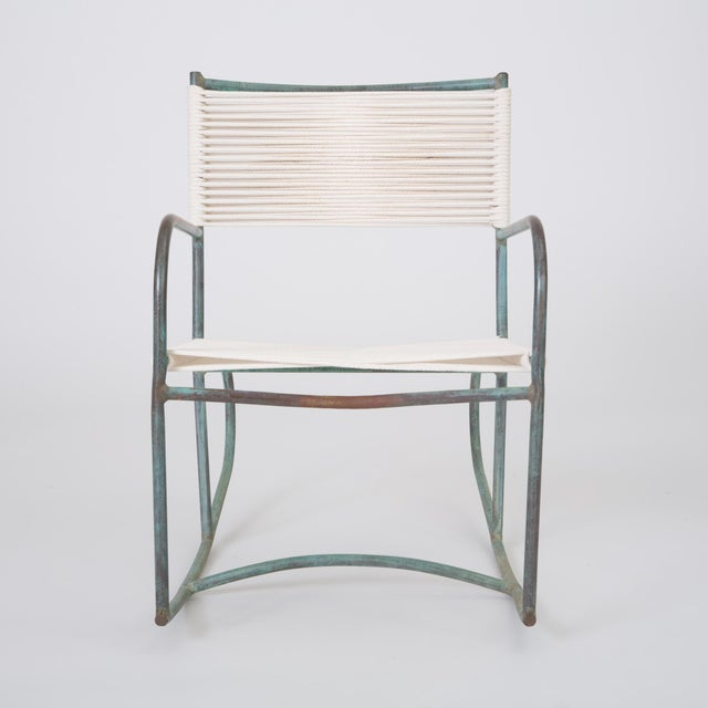 1940s Early Model Walter Lamb Patio Rocking Chair For Sale - Image 5 of 11