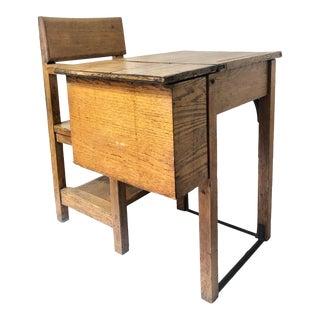 1900s Vintage Child's School Desk For Sale