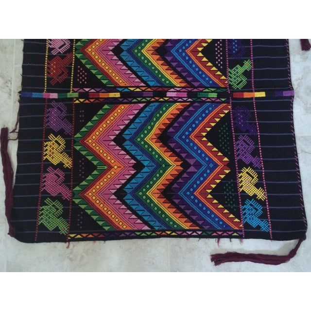 Vintage Guatemalan Textile For Sale - Image 4 of 7
