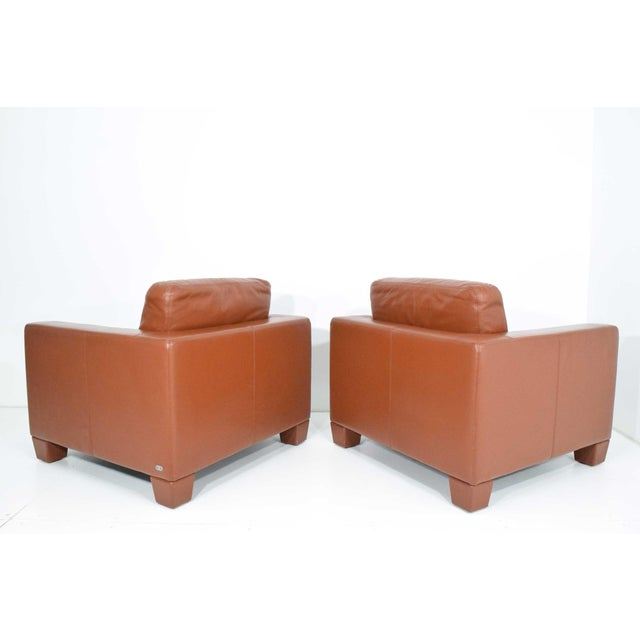 Modern De Sede Leather Lounge Chairs- A Pair For Sale - Image 3 of 10