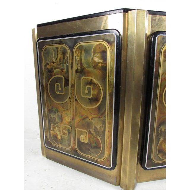 Bernhard Rohne Stunning Mastercraft Demilune Console Cabinet by Bernhard Rohne For Sale - Image 4 of 13