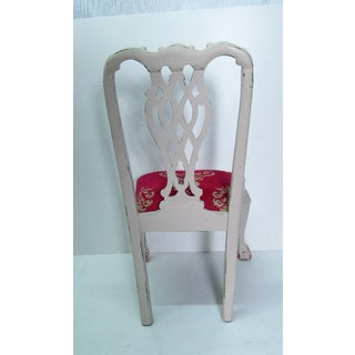 Hollywood Regency Whitewashed Refinished & Upholstered Chair Preview