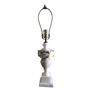 Mid-Century Italian Marble Table Lamp For Sale