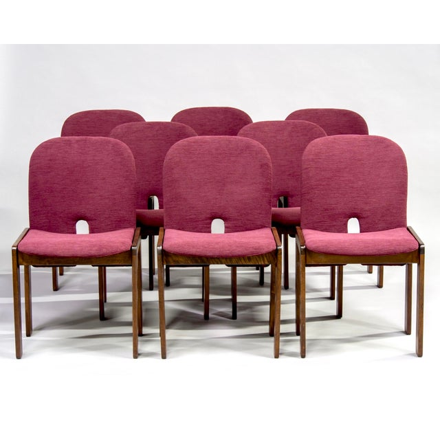 Afra and Tobia Scarpa 121 Walnut Dining Chairs for Cassina, Set of 8 For Sale - Image 11 of 11
