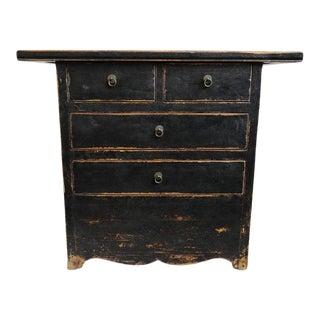 Black 4 Drawer Side Cabinet For Sale
