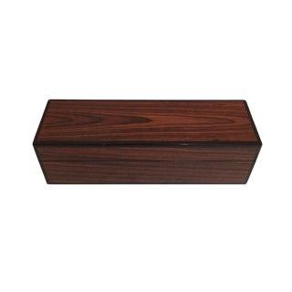 Woodgrain Lacquered Box For Sale