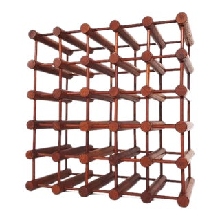 Danish Teak Wine Rack by Nissen For Sale