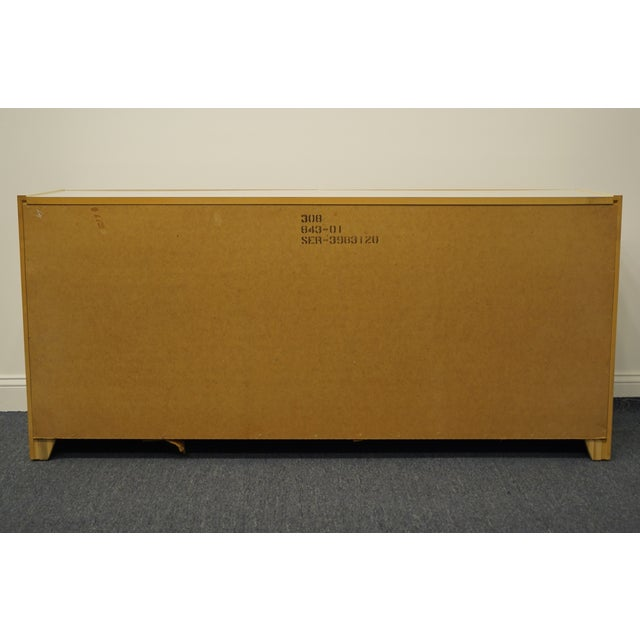 Lane Furniture Contemporary Cream/Off White Lacquered Double Dresser For Sale - Image 10 of 13