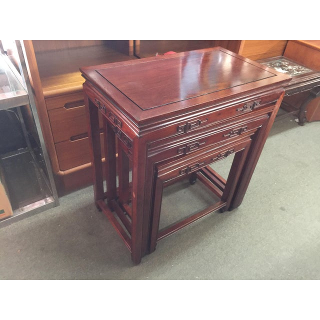 Set of Rosewood Nesting Tables For Sale - Image 11 of 13