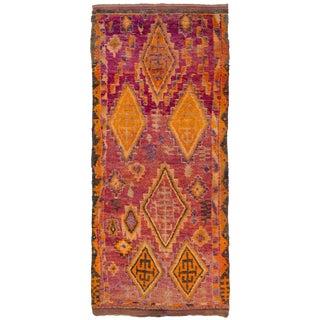 Vintage Moroccan Berber Ait Bou Ichaouen Rug- 6′3″ × 14′3″ For Sale