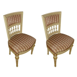 Jansen Style Side Chairs - Pair For Sale