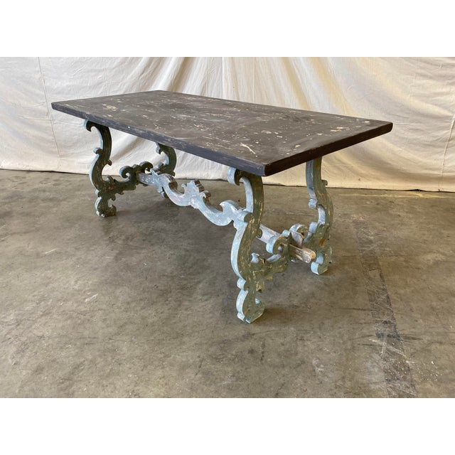 Tuscan Painted Trestle Dining Table For Sale - Image 12 of 13