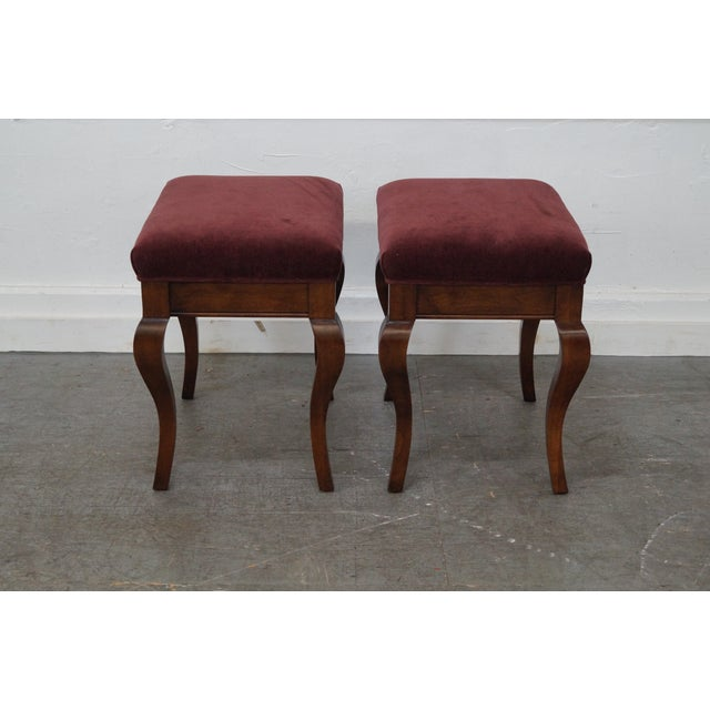 Fremarc Designs Pair of French Country Style Benches AGE/COUNTRY OF ORIGIN: Approx 25 years, America DETAILS/DESCRIPTION:...
