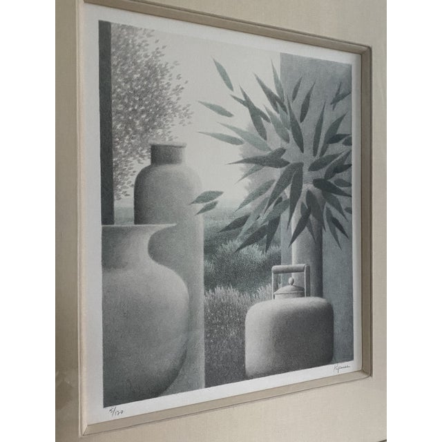 """Mid-Century Modern """"Flotation"""" 1986 a Mezzotint by Roger Kipness For Sale - Image 3 of 6"""
