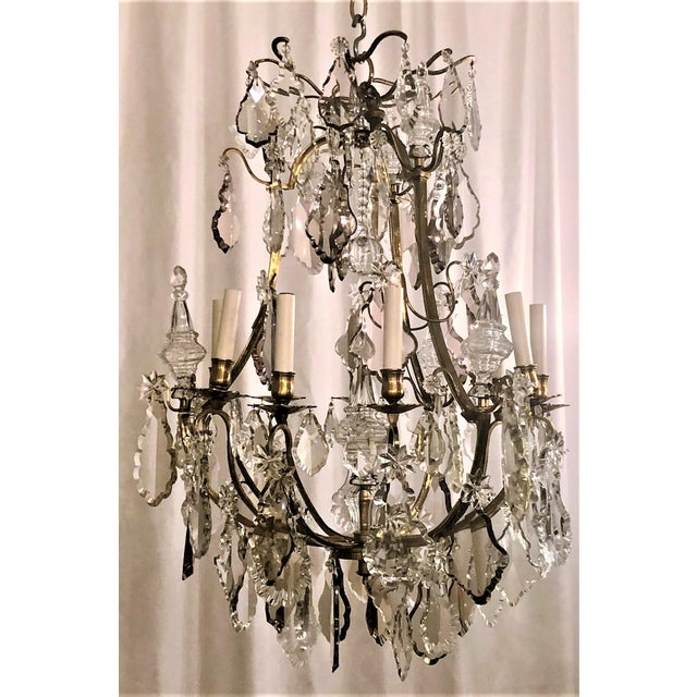 Traditional Antique French Baccarat Crystal Chandelier, Circa 1880. For Sale - Image 3 of 3