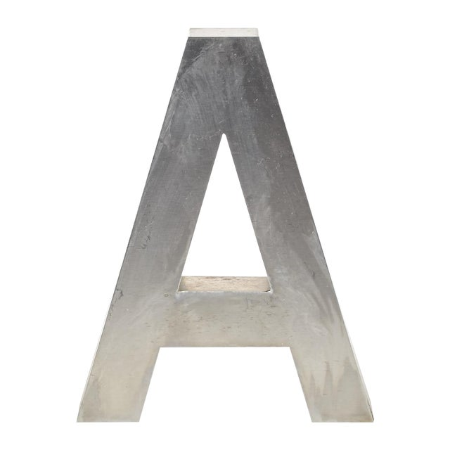 """Aluminum """"A"""" Letter - Image 1 of 4"""