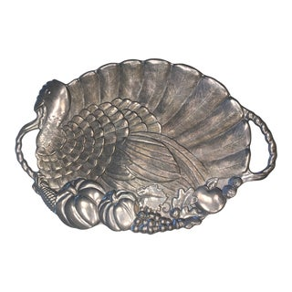 Gorham Silver Metal Turkey Platter For Sale