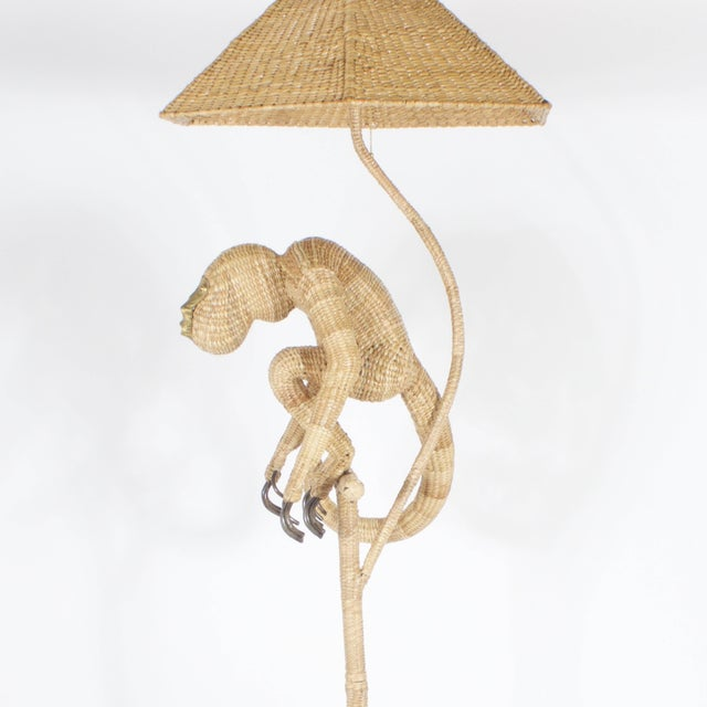 Contemporary Mario Torres Monkey Floor Lamp For Sale - Image 3 of 8
