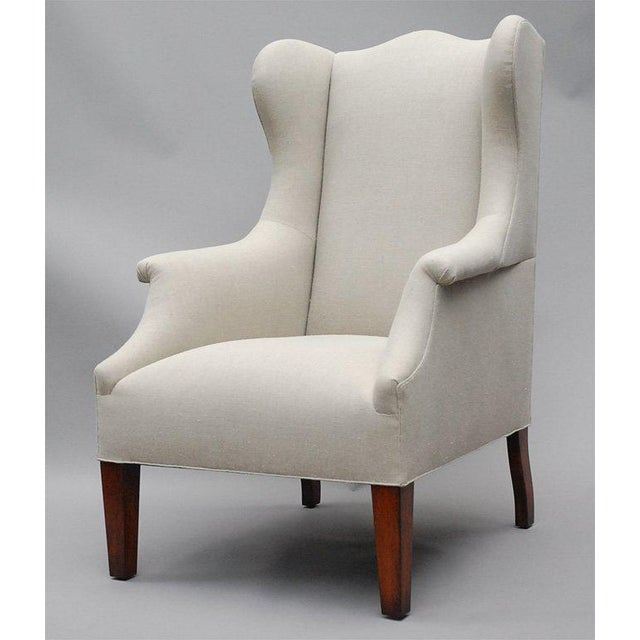 """""""Somerton"""" by Lee Stanton armchair upholstered in Belgian linen or customer's own material (COM). $150 additional for..."""