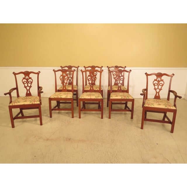 Chippendale Dining Room Chairs: Eldred Wheeler Cherry Chippendale Dining Room Chairs