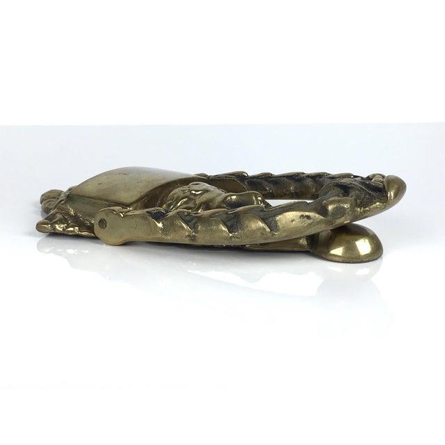 Solid Brass Greek Goddess Door Knocker For Sale - Image 11 of 12