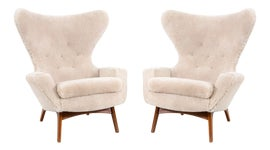 Image of Antique White Accent Chairs