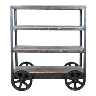 1950s Industrial Iron Cart For Sale