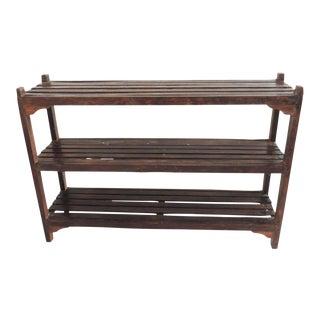 Vintage Wood Display Shelf