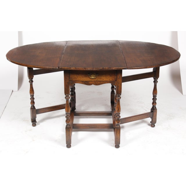 1920s English Jacobean Gateleg Table For Sale - Image 4 of 11