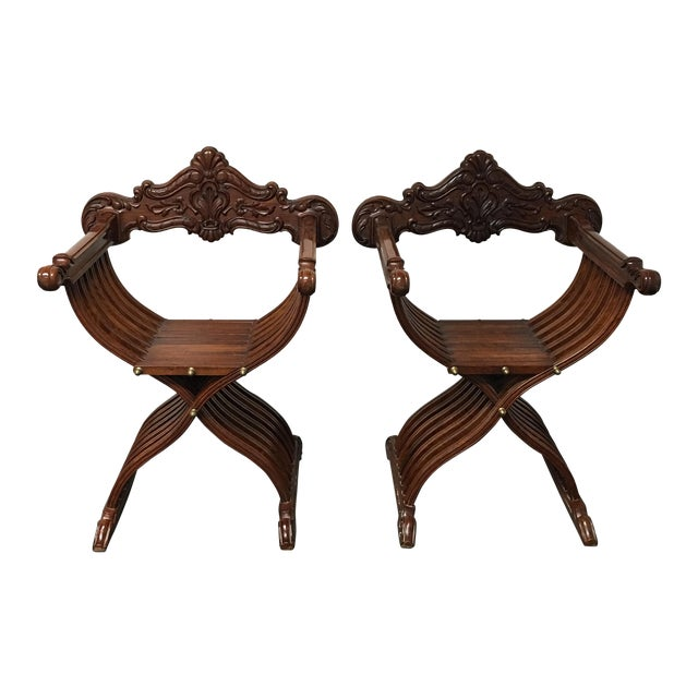 Side Wood Folding Chairs - Pair - Image 1 of 11